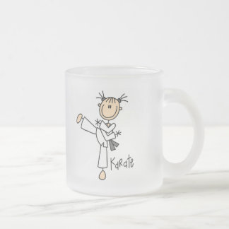 Karate-Mädchen-T-Shirts und Geschenke Teehaferl