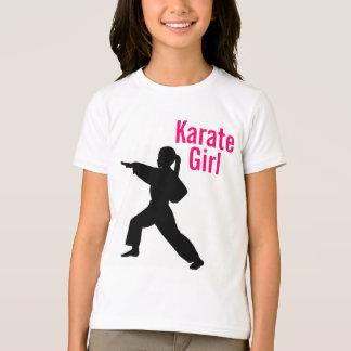 Karate-Mädchen-Wecker-T-Shirt T-Shirt