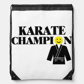 Karate-Meister-Smiley Turnbeutel