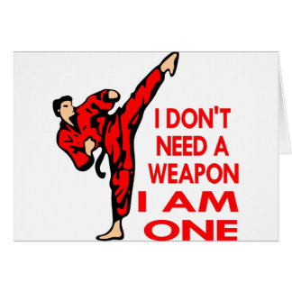 Karate, MIXED MARTIAL ARTS, BIN ICH eine Waffe Karte