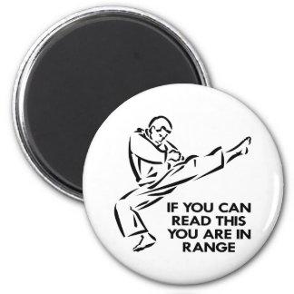 Karate, MIXED MARTIAL ARTS, SIND Sie in der Runder Magnet 5,7 Cm