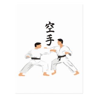 Karate Postkarte