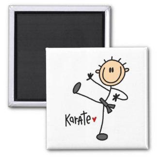 Karate-Strichmännchen-Magnet Quadratischer Magnet