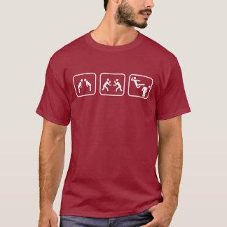 Karate-Strichmännchen T-Shirt
