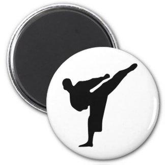 Karate-/Taekwondo-Tritt-runder Magnet Runder Magnet 5,7 Cm