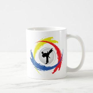 Karate-Tricolor Emblem Kaffeetasse