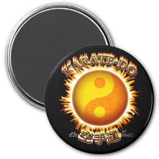 Karate-tun Yin/Yangs Sun Magneten Runder Magnet 7,6 Cm