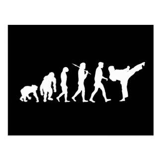 Karateliebhaber Dojo-Trainingsgeschenk Postkarte