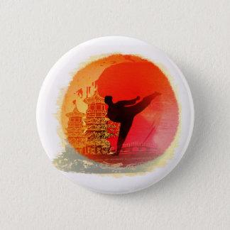 Karatemann Abzeichen Runder Button 5,7 Cm