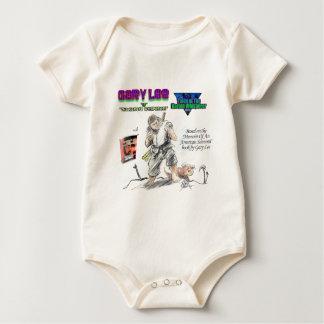 Karatewhisperer-Cartoonentwurf 2 Baby Strampler