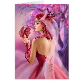 Kardieren Sie schöne Fantasiefrauenkönigin und Karte