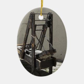 Kardierende Maschine der alten Wollen und Garn der Keramik Ornament