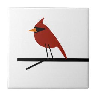 Kardinal auf einem Glied Keramikfliese