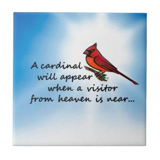 Kardinal, Besucher vom Himmel Keramikfliese