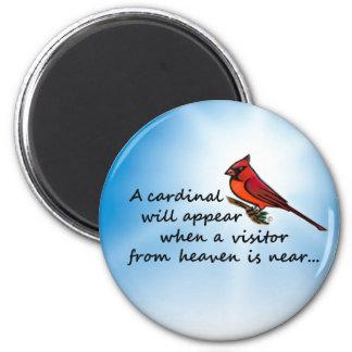 Kardinal, Besucher vom Himmel Runder Magnet 5,7 Cm