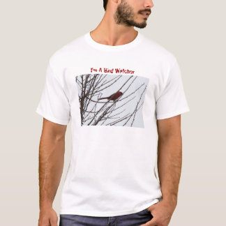 Kardinal, bin ich ein Vogelbeobachter T-Shirt