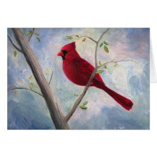 Kardinal, der an Sie denkt Grußkarte