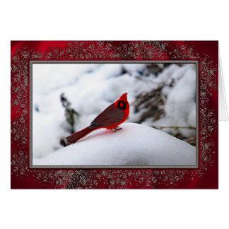 Kardinal in der Weihnachtskarte des Schnee-6243 Karte