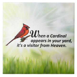 Kardinal in Ihrem Yard Fliese