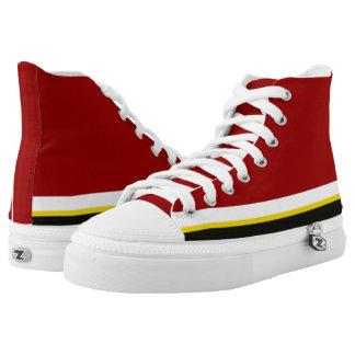 Kardinal mit weißem Gold und schwarzer Ordnung Hoch-geschnittene Sneaker