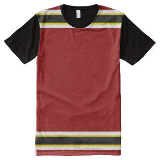 Kardinal mit weißem Gold und schwarzer Ordnung T-Shirt Mit Komplett Bedruckbarer Vorderseite