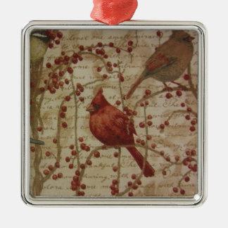 Kardinal Silbernes Ornament