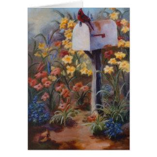 Kardinal wartete die Post Karte