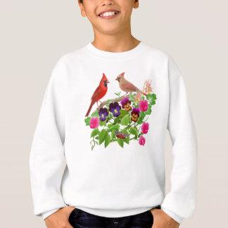 Kardinäle im Garten scherzt Sweatshirt