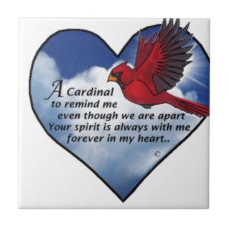 Kardinals-Herz-Gedicht Keramikfliese