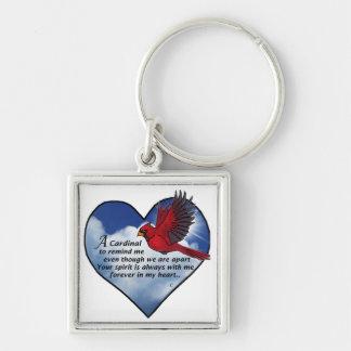 Kardinals-Herz-Gedicht Schlüsselanhänger