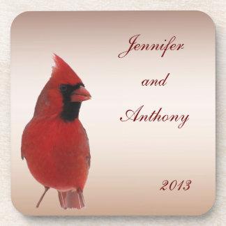 Kardinals-Hochzeit Getränk Untersetzer