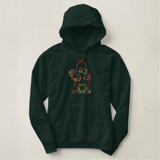Kardinals-Kontur Bestickter Hoodie
