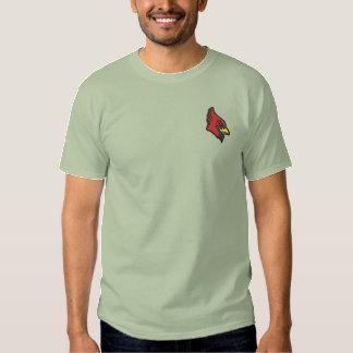 Kardinals-Kopf Besticktes T-Shirt