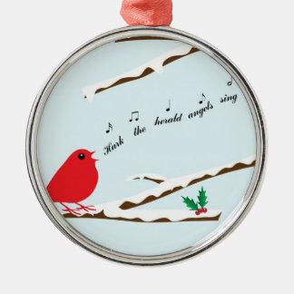 Kardinals-Lied-erstklassige Weihnachtsverzierung Silbernes Ornament