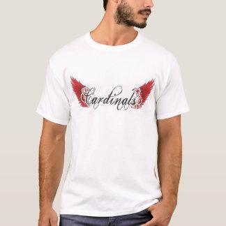 Kardinals-schwarze Flügel T T-Shirt