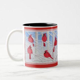 Kardinals-Tasse Zweifarbige Tasse
