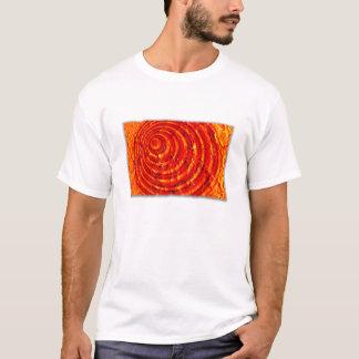 Kardinals-und Goldfarben-Spirale mit Rändern T-Shirt
