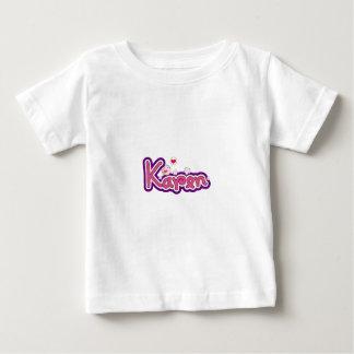 Karen-Namenspersonalisiertes Baby T-shirt