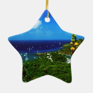 Karibische Insel Antiguas Keramik Ornament