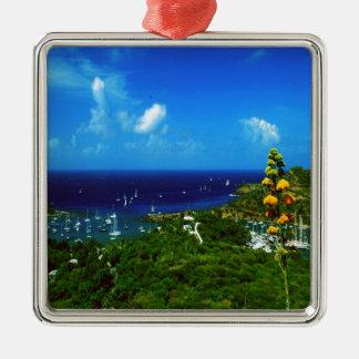Karibische Insel Antiguas Silbernes Ornament