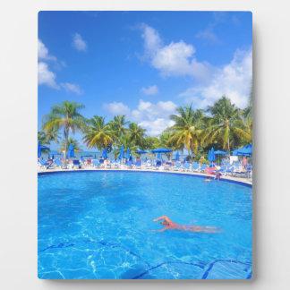 Karibische Inseln Fotoplatte