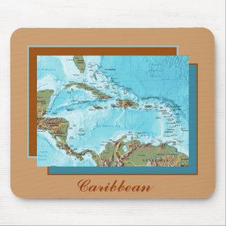 Karibische Karte Mousepad