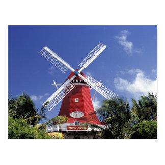 Karibische Meere, Aruba. Alte Mühle, umgewandelt Postkarte