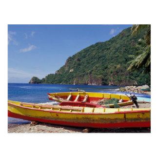 Karibische Meere, BWI, St Lucia, Segelboote, Postkarte