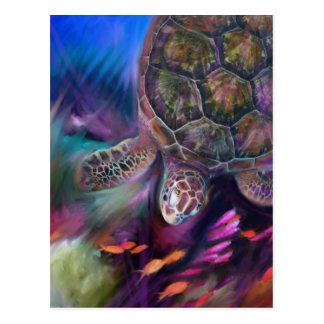 Karibische Meeresschildkröten Postkarte