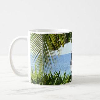 Karibische Strand-Pier-Tasse Kaffeetasse