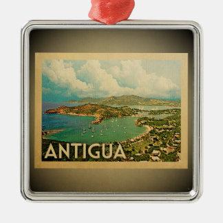 Karibische Verzierungs-Vintage Reise Antiguas Silbernes Ornament