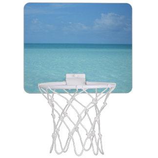 Karibischer Horizont-tropisches Türkis-Blau Mini Basketball Netz