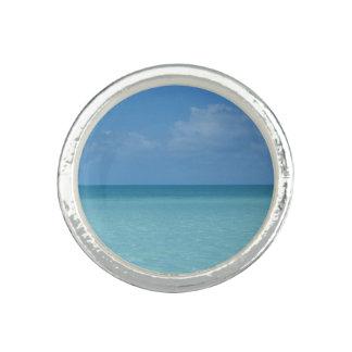 Karibischer Horizont-tropisches Türkis-Blau Ring