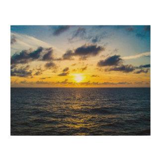 Karibischer Sonnenuntergang Holzwanddeko